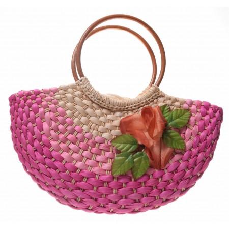 Torebka koszyk z kwiatkiem
