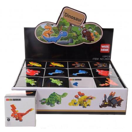 Klocki 3D dinozaury
