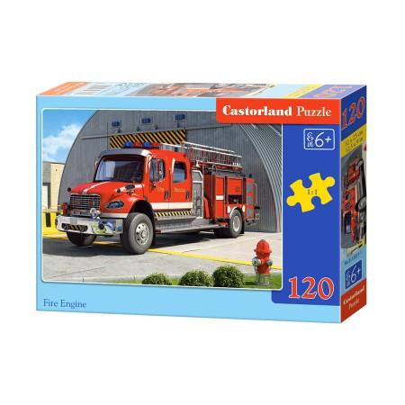 Puzzle 120 el. Fire engine - Straż pożarna