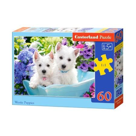 Puzzle 60 el. Westie Puppies - Szczeniaki Westów