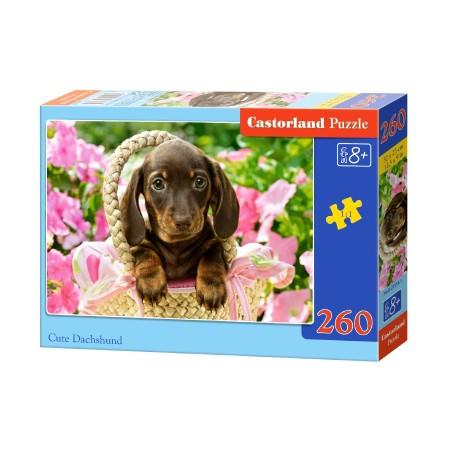 Puzzle 260 el. Cute Duchshund - Szczeniak jamnik