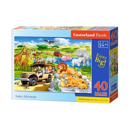 Puzzle 40 elementów MAXI Safari Adventure - Przygoda na safari