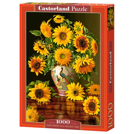 Puzzle 1000 el. Sunflowers in a Peacock Vase