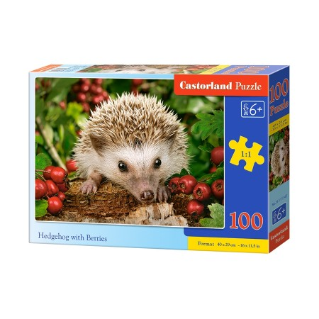 Puzzle 100 el. Hedgehog with berries