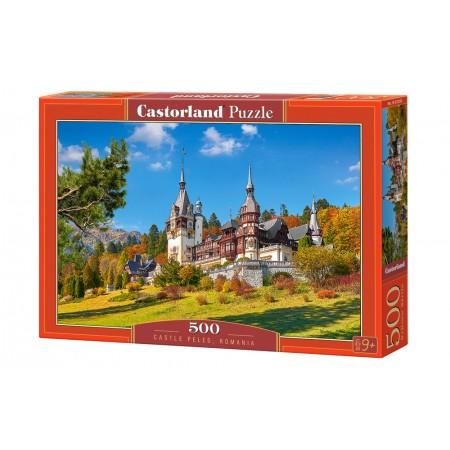 Puzzle 500 el. Castle Peles, Romania - Zamek Peles, Rumunia