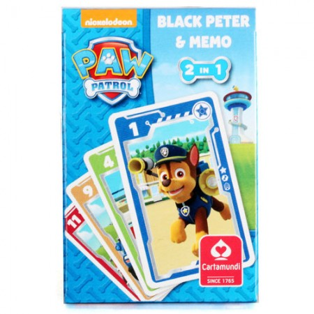 Karty Czarny Piotruś i Memo Psi Patrol