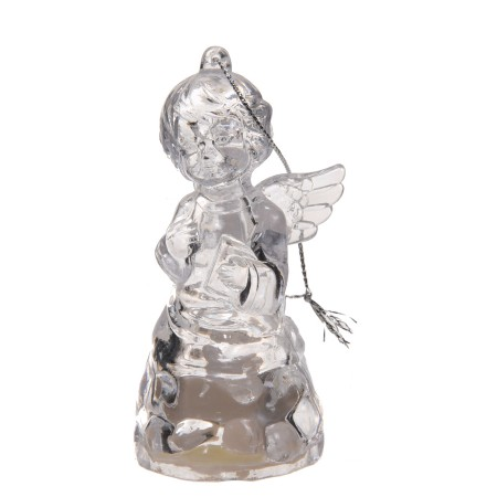 Aniołek szklany świecący