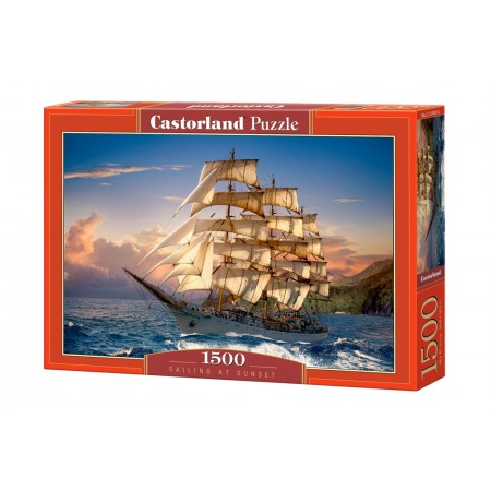 Puzzle 1500 el. Sailing at Sunset - Rejs o zachodzie