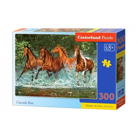 Puzzle 300 el. Cascade Run - Konie