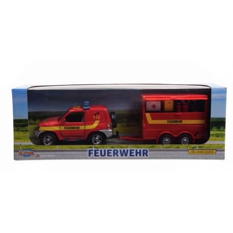 Straż pożarna z przyczepą