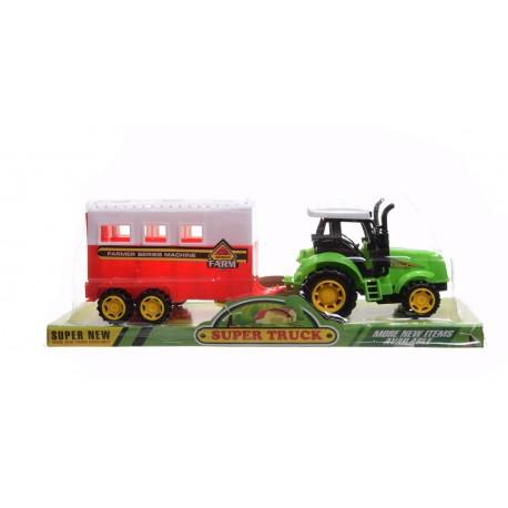 Traktor z przyczepą dla konia