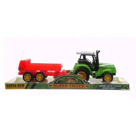 Traktor z rozrzutnikiem
