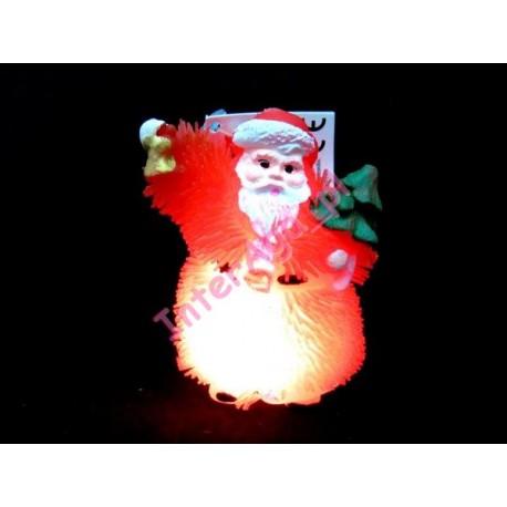 Mikołaj gumowy miękki świecący