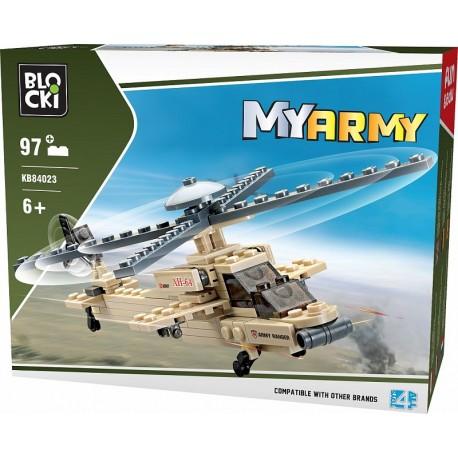 Klocki blocki MyArmy helikopter 97 el