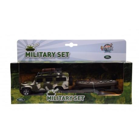 Land rover wojskowy z pontonem