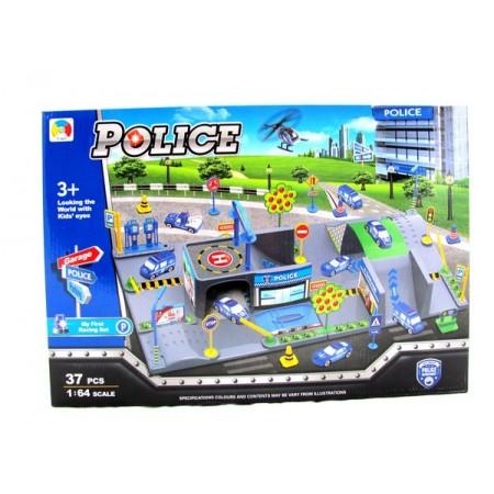 Miasto garaż straż policja