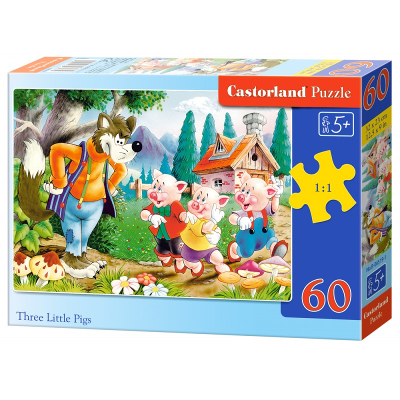 Puzzle 60 el. Three little pigs - Trzy świnki