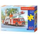 Puzzle 60 el. Fire engine - Straż pożarna