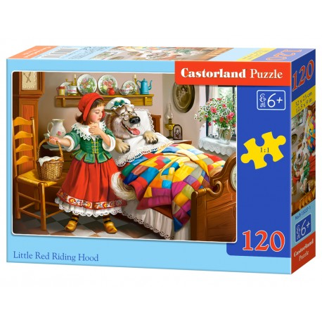 Puzzle 120 el. Little Red Riding Hood - Czerwony Kapturek