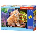 Puzzle 180 el. Ginger Kitten - Rudy kotek