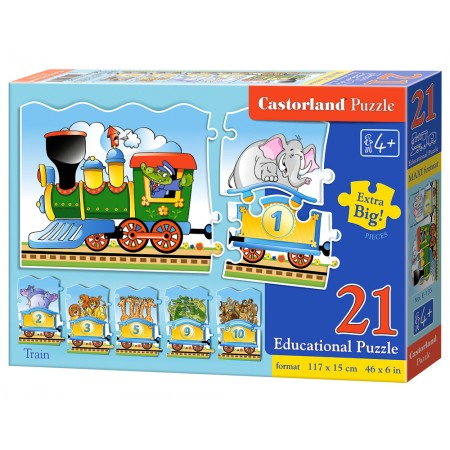 Puzzle edukacyjne 21el. - Pociąg