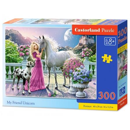 Puzzle 300 el. My friend Unicorn - Mój przyjaciel jednorożec