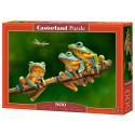 Puzzle 500 el. The frog companions - Żabi kamraci