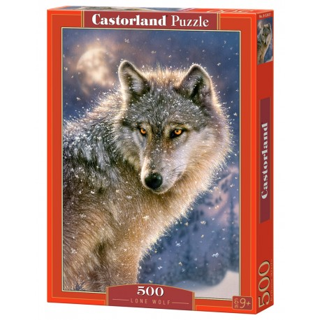 Puzzle 500 el. Lone wolf - Samotny wilk