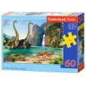 Puzzle 60 el. In the Dinosaurs World - W świecie dinozaurów