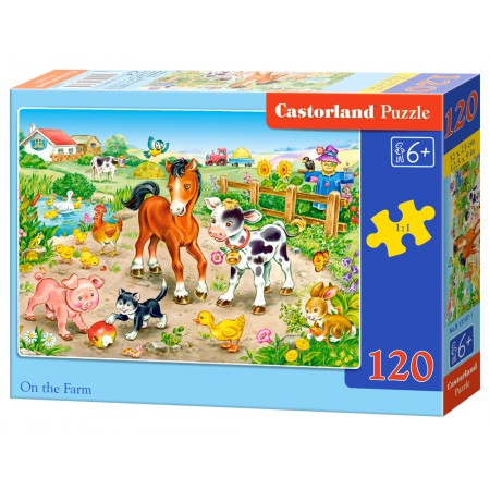 Puzzle 120 el. On the farm - Na farmie
