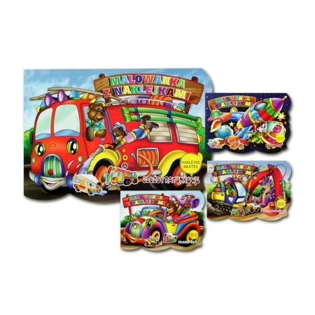 Malowanka z naklejkami - Pojazdy