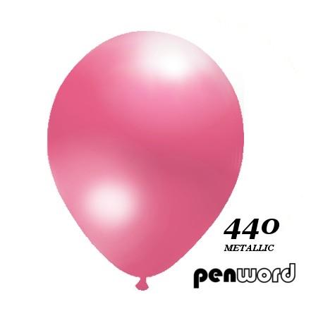 """Balon metalik 10"""" różowy 100szt."""