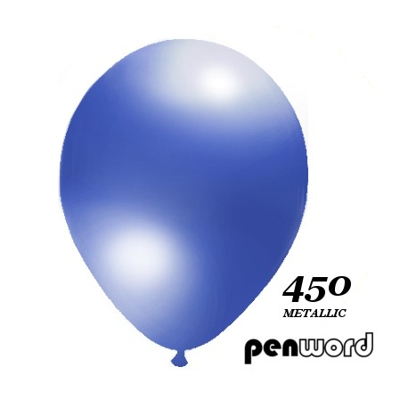 "Balon metalik 10"" granatowy 100szt."