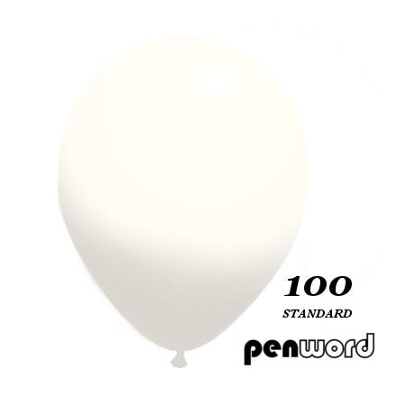 "Balon standard 10"" biały 100szt."