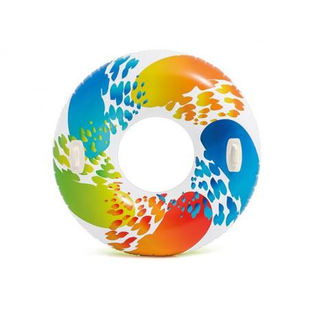 Kolorowe duże koło do pływania 119 cm 58202