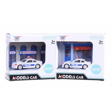 Auto metalowe policyjne