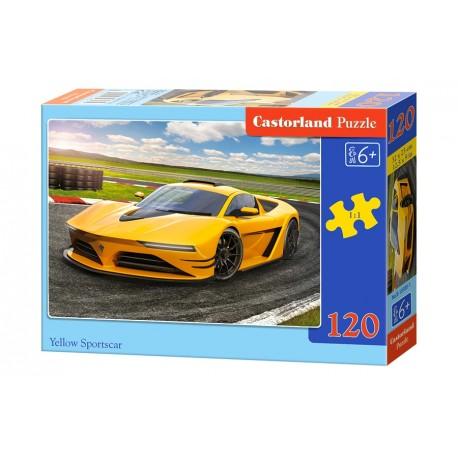 Puzzle 120 el. Yellow Sportscar - Żółte auto sportowe