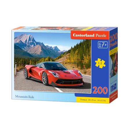 Puzzle 200 el. Mountain Ride - Auto sportowe czerwone