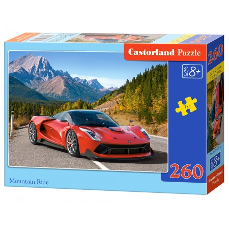 Puzzle 260 el. Mountain Ride - Czerwone auto sportowe