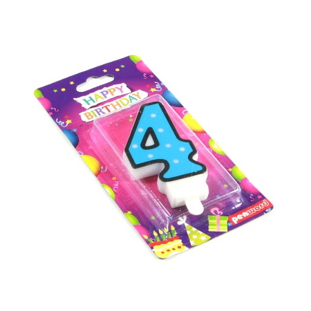 Świeczka urodzinowa cyfra 4