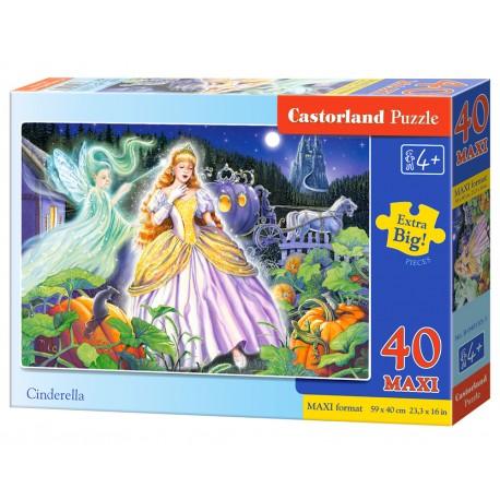 Puzzle 40 elementów MAXI Cinderella