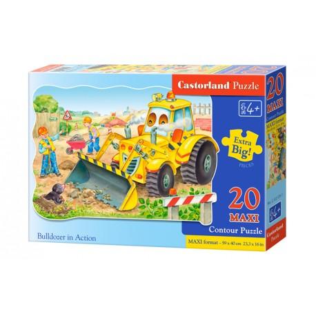 Puzzle 20 el. MAXI Bulldozer in action - Koparka