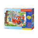 Puzzle 20 el. MAXI Fire Brigade - Straż Pożarna