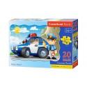 Puzzle 20 el. MAXI Police Patrol - Patrol policyjny