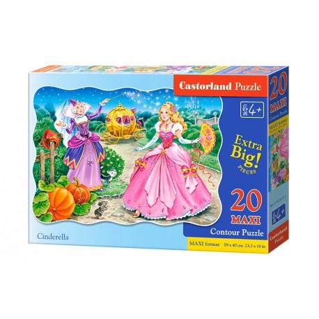 Puzzle 20 el. MAXI Cinderella - Kopciuszek