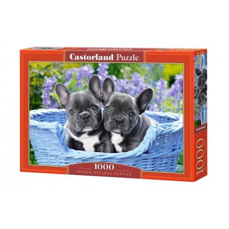 Puzzle 1000 el. French Bulldog Puppies - Szczeniaki Bulldogów Francuskich