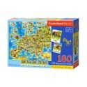 Puzzle edukacyjne 180 el. - Mapa Europy