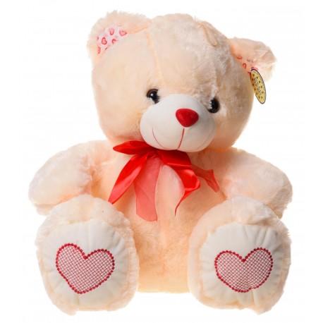 Miś 3 kolory duży serca Walentynki
