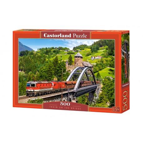 Puzzle 500 el. Train on the Bridge - Pociąg na moście