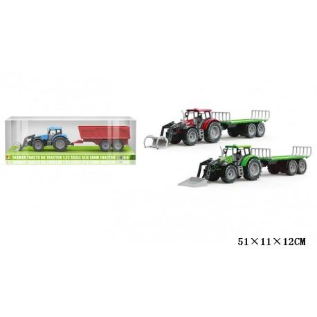 Traktor z przyczepą + tur